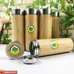 Bình giữ nhiệt gỗ vỏ trúc