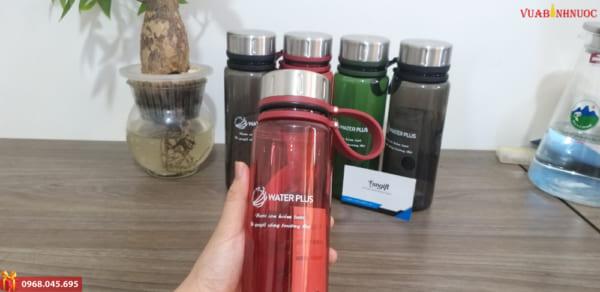 Bình nước nhựa in logo giá rẻ